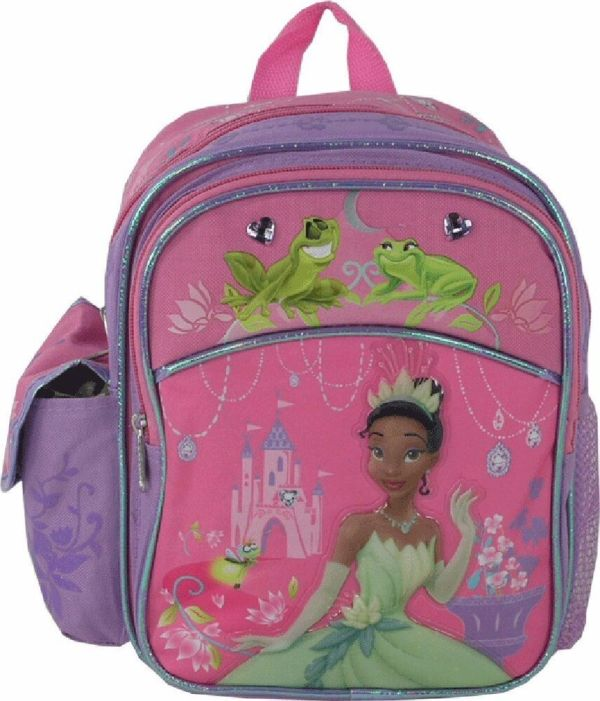 Disney Princess And Frog Girls Kids Mini 10'' Backpack School Book Bag