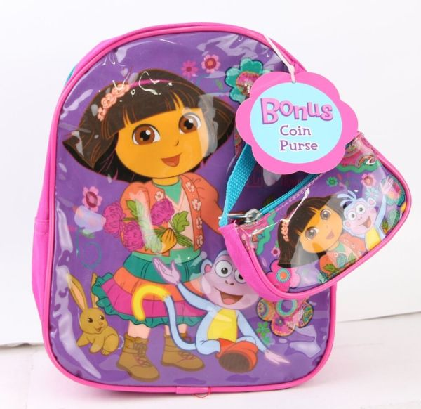 Dora Explorer Girls 10'' Mini Backpack With Coin