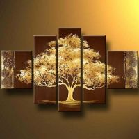Tree-Modern Canvas Art Wall Decor Landscape Oil Painting ...