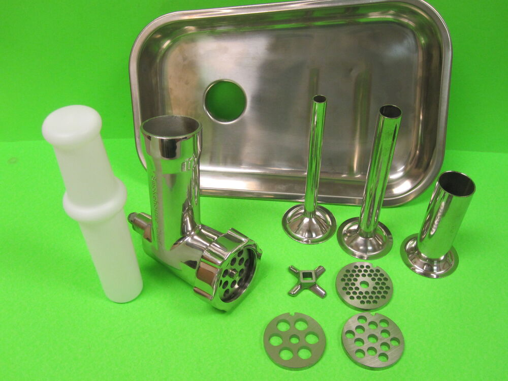 kitchen aid attachment used kitchens for sale stainless steel metal meat grinder food chopper ...