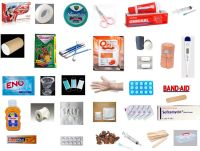 FIRST AID KIT BOX with 32 Items, For Home, Office