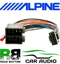 details about alpine cde 134bt car radio stereo replacement wiring harness loom iso lead [ 1000 x 1000 Pixel ]
