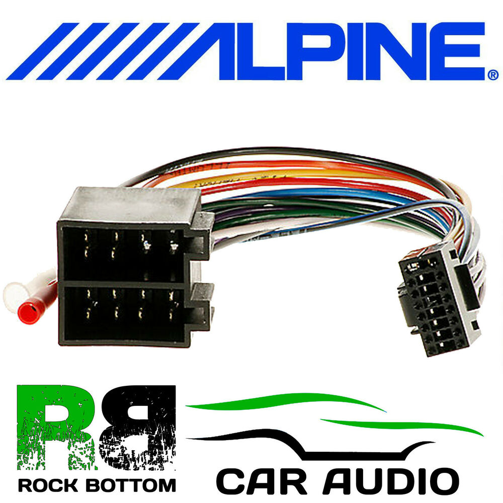 hight resolution of details about alpine cde 134bt car radio stereo replacement wiring harness loom iso lead