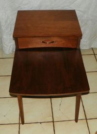 Walnut Mid Century Step End Table / Side Table by Mersman ...