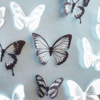 18pcs Black White Butterfly Art Decal Wall Stickers Home ...