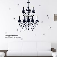 Chandelier Removable Vinyl Words Quote Wall Stickers ...