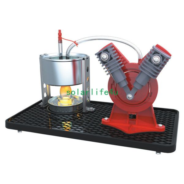 Type Mini Hot Live Steam Engine Twin Cylinder Model