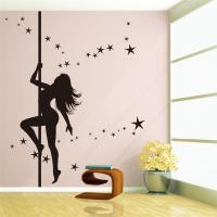 Large Pole Dancing Sexy Girl Removable Vinyl Art Decal