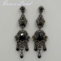 New Alloy Black Crystal Rhinestone Chandelier Drop Dangle