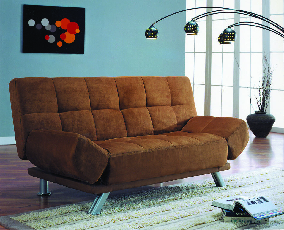 microfiber sofa and loveseat recliner metal gliders new click clack futon bed with adjustable arms in ...