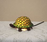 Stained Glass Tiffany Style Turtle Night Light Table Desk ...