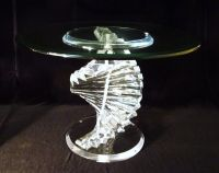 Vintage Mid Century Acrylic Lucite Crystal Top Spiral DNA ...