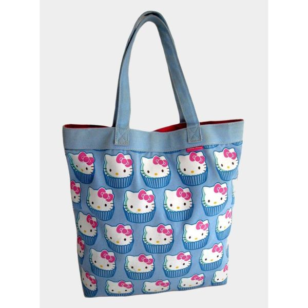 Kitty Loungefly Cupcake Wallpaper Canvas Tote Bag
