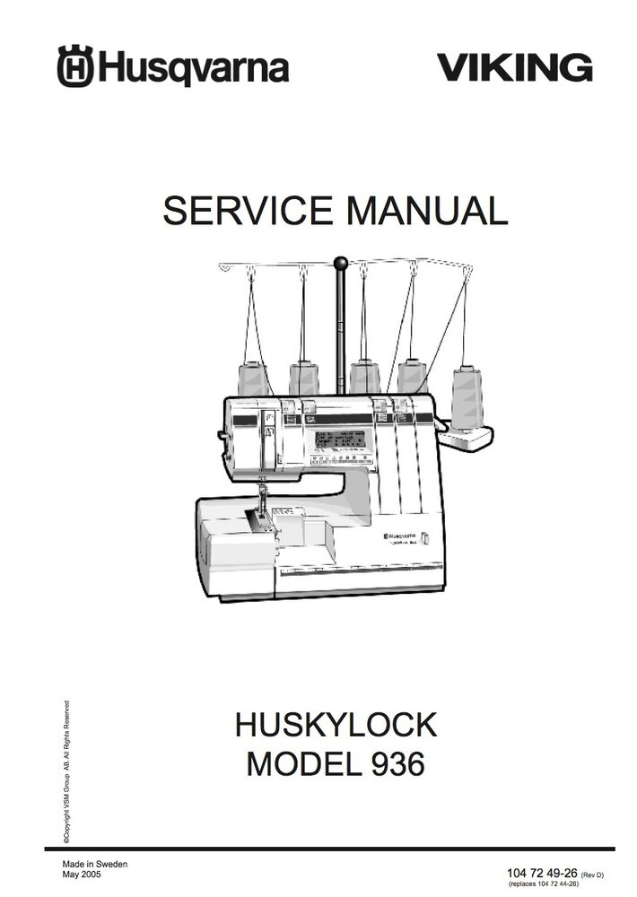 Husqvarna Viking Huskylock 936 Service manual & Parts