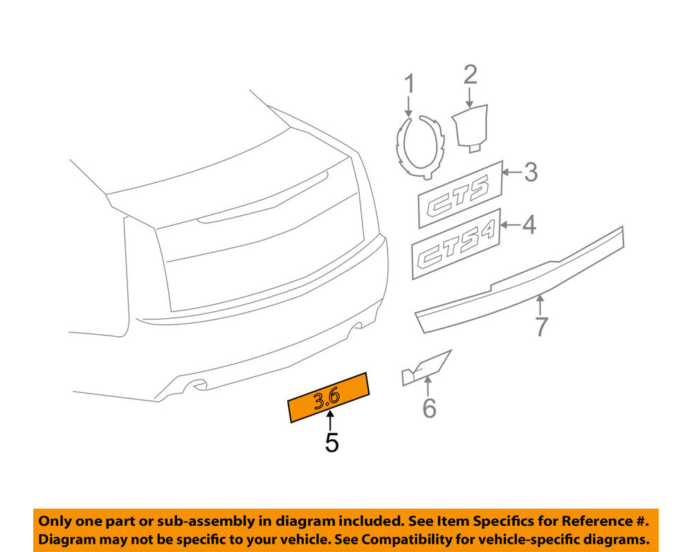 hight resolution of details about cadillac gm oem 08 14 cts trunk lid emblem badge nameplate 25841627