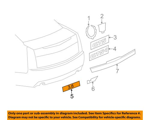 small resolution of details about cadillac gm oem 08 14 cts trunk lid emblem badge nameplate 25841627