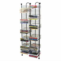 100 CD TOWER STORAGE RACK organizer tall metal wire stand ...