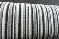 SOFT 11mm THICK Grey-Silver Stripe Saxony Carpet 8.99sqm ...