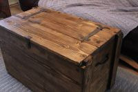 Rustic Wooden Chest Trunk Blanket Box Vintage Coffee Table ...