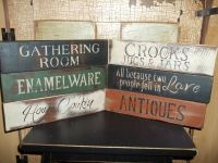 Wood Signs Many Styles Country Prim Rustic Aged VTG Home ...