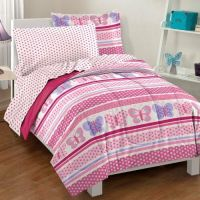 Twin Size Comforter Set 5 Piece Girls Bed in a Bag Kids ...