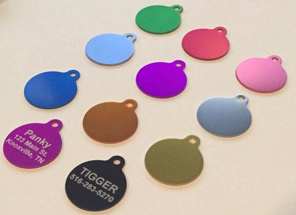 PET TAGS CUSTOM ENGRAVED DOUBLE SIDED PERSONALIZED ID DOG