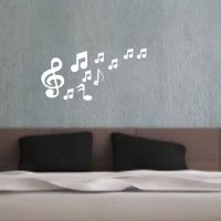Musical Notes Acrylic Mirrors Wall Sticker Home Decor ...