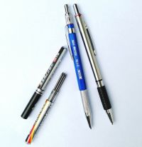 2 PCS 2.0 mm Lead Holder Mechanical Pencil with 2 tubes ...