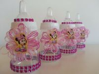 12 Minnie Mouse Pink Fillable Bottles Baby Shower Favors ...