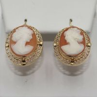 Antique 14k Yellow Gold Hand Carved Filigree Cameo ...