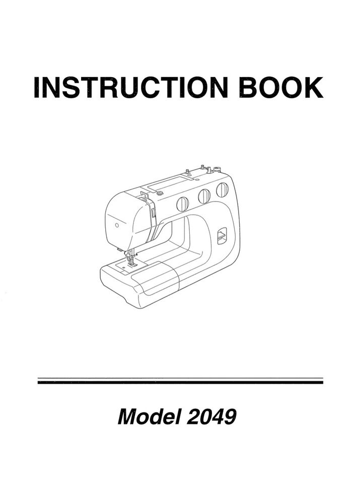 Instructions For A Janome Decro Excel 5018