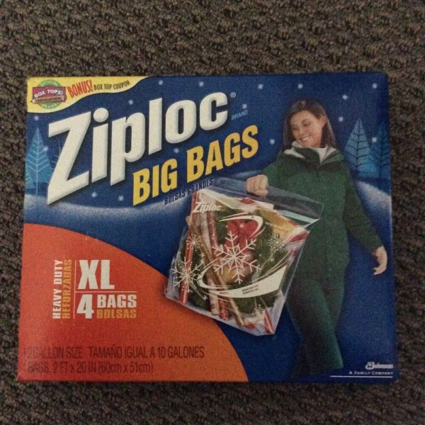 Ziploc Big Bags Xl 4 Christmas Edition