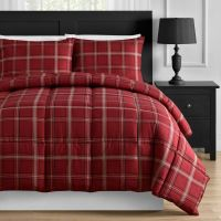Red Plaid Down Alternative Twin Full Queen & King ...