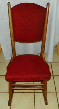 Quartersawn Oak Sewing Rocker / Rocking Chair (R200)