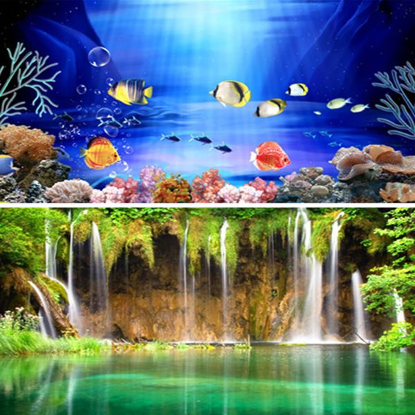 wow double sided aquarium poster