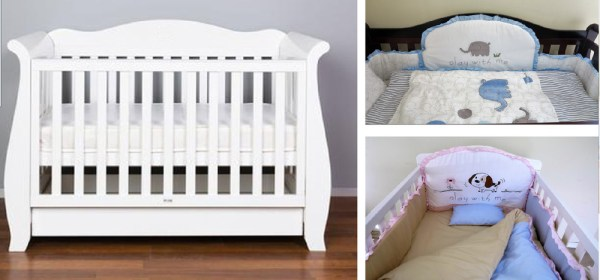 White Baby Crib with Drawers