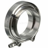 """3"""" Inch Stainless Steel V-Band Clamp with 2 Flange Kit ..."""