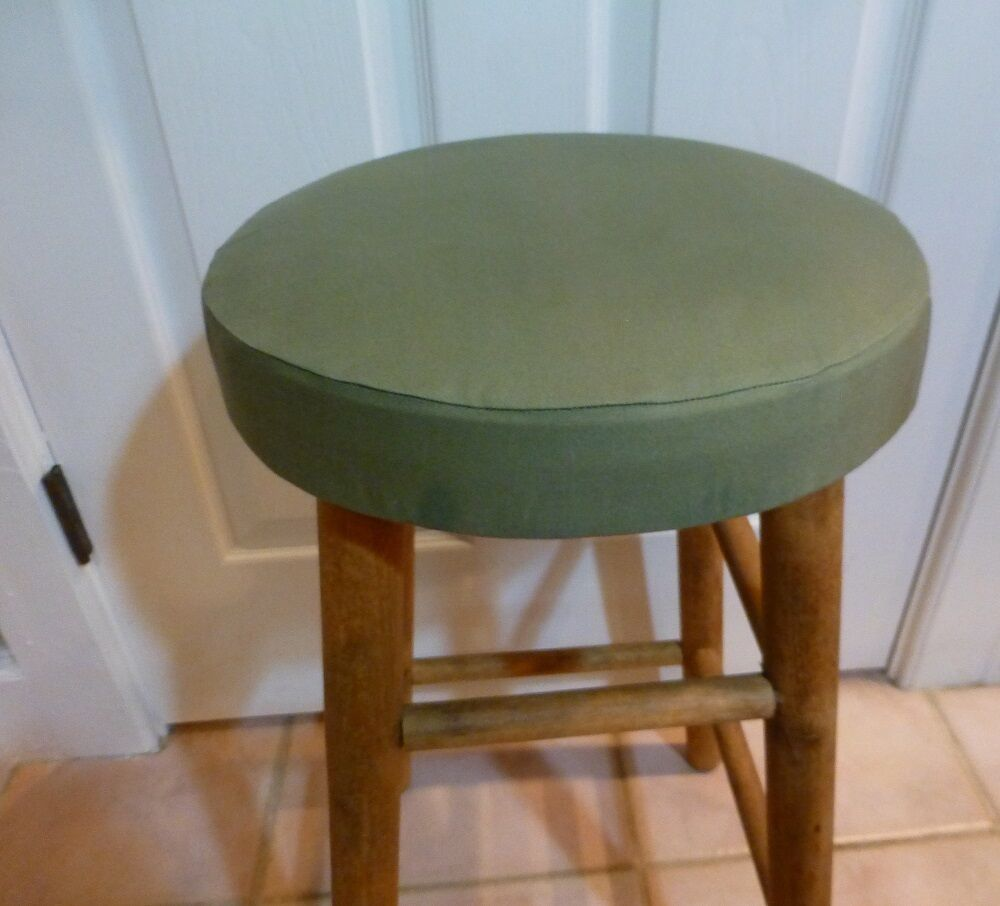 Bar Stool Slip Covers 12 12 X 3 Canvas Duck Cloth With Elastic Casing EBay