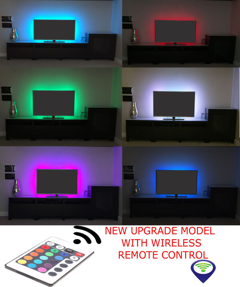 RGB LED STRIP USB Colour Changing Lighting Kit 50cm TV