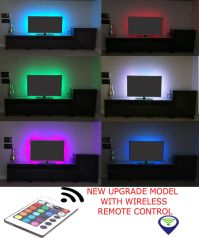 RGB LED STRIP USB Colour Changing Lighting Kit 50cm -TV ...