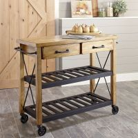Modern Rustic Industrial Country Portable Kitchen Cart ...