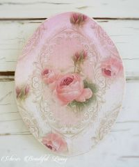 Shabby Rose Chic Plaque Sign Floral Home Decor Wall ...