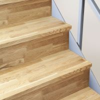 Solid Oak Timber Stair Cladding - 995mm Staircase Tread ...