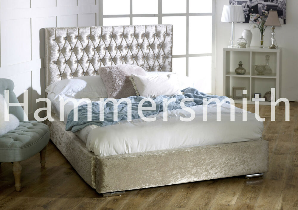 CHEAP BED FRAME DOUBLE KING SIZE VELVET BEDS NEW AND CHEAP  eBay