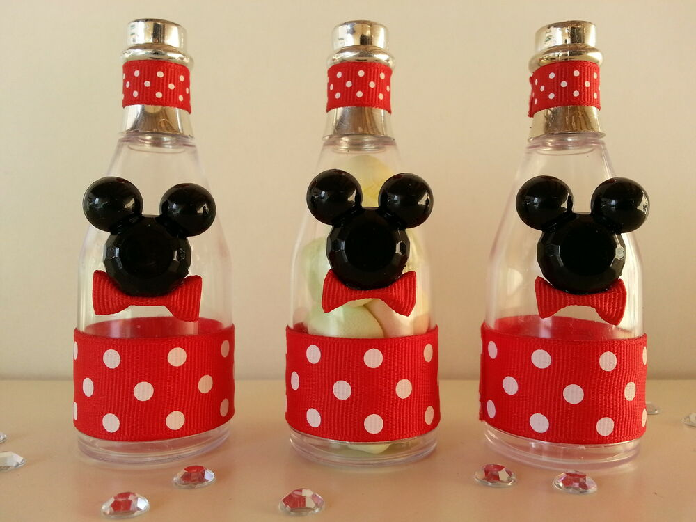 12 Mickey Mouse Fillable Champagne Bottles Baby Shower Favors Prizes Games Decor  eBay