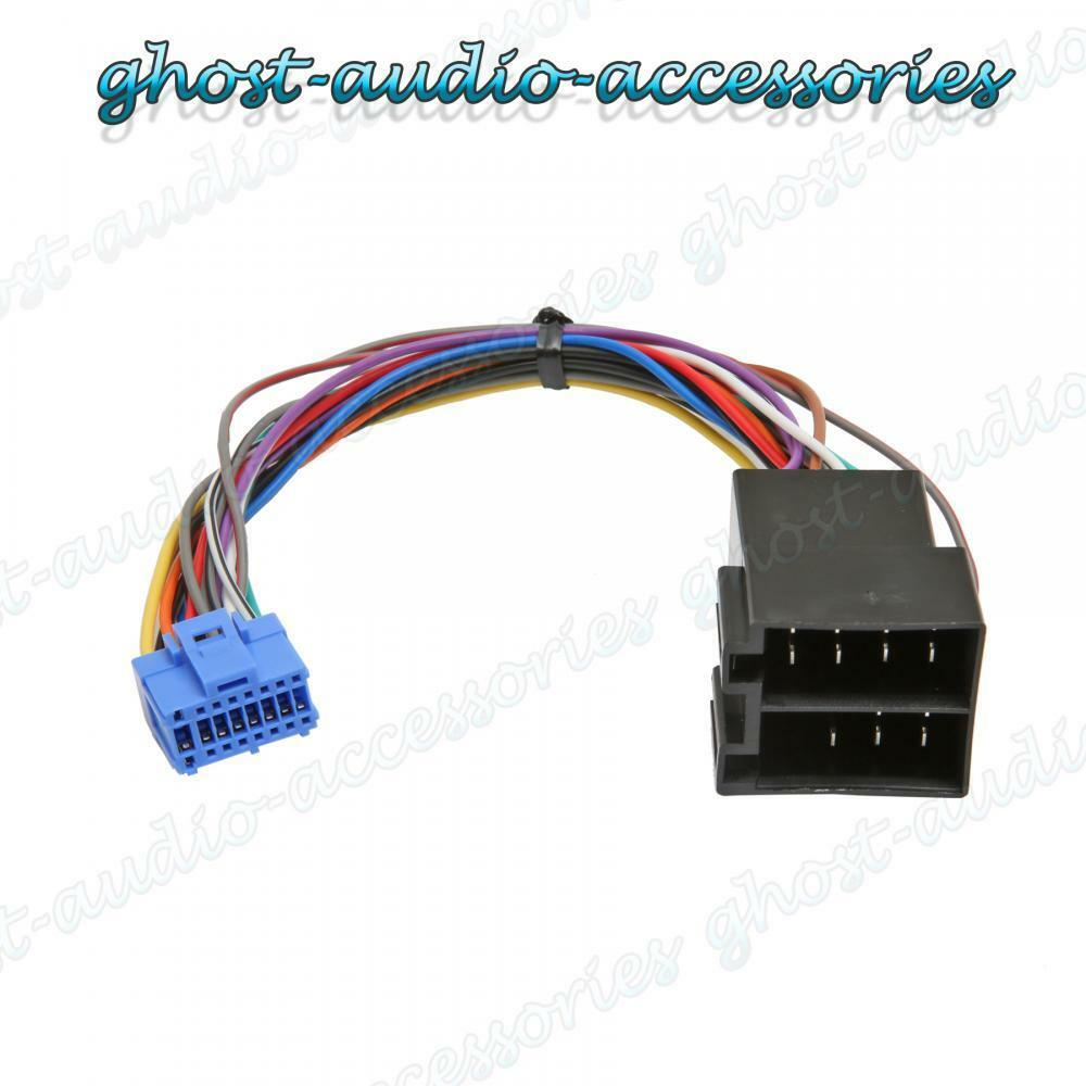 medium resolution of pioneer car stereo radio iso wiring harness connector adaptor cable pi 102