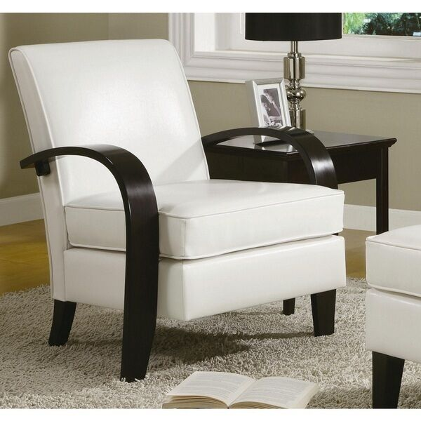 contemporary accent chairs with arms glider chair covers for nursery leather white dining wood living room lounge furniture | ebay