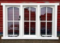 Timber Arched Cottage Style Casement Window with astragal ...