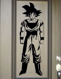 Goku Vinyl Wall Decal - Dragon Ball Z, DBZ Anime Wall Art ...