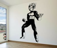 Vegeta Super Saiyan Vinyl Wall Decal - Dragon Ball Z, DBZ ...